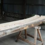 H邸葺替工事 新・旧の隅木の比較