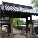 旧西條藩陣屋北御門修復工事 素屋根撤去後