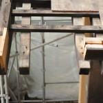 旧西條藩陣屋北御門修復工事 茅負の補修