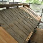 旧西條藩陣屋北御門修復工事 化粧板(けやき材)補修