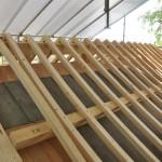旧西條藩陣屋北御門修復工事 野垂木