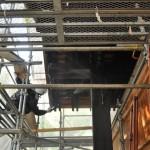 旧西條藩陣屋北御門修復工事 表面の洗い