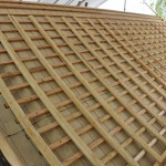 旧西條藩陣屋北御門修復工事 桟木施工